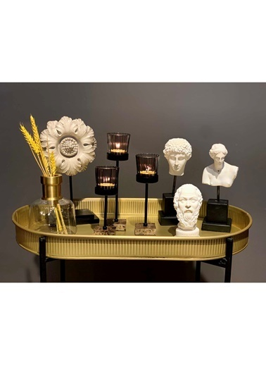 The Mia Antik Biblo Figürü - Hermes Renkli